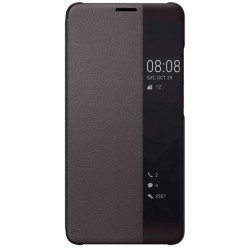 Etui Protection S-View Cover Marron Pour Huawei Mate 10 Pro
