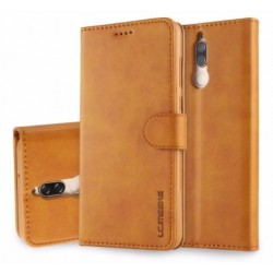 Protection Etui Portefeuille Cuir Marron Huawei Mate 10 Lite