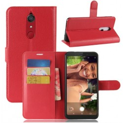 Protection Etui Portefeuille Cuir Rouge Samsung Galaxy J3 (2017)
