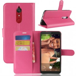 Protection Etui Portefeuille Cuir Rose Samsung Galaxy J3 (2017)
