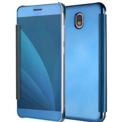 Etui Protection Ice View Cover Bleu Pour Samsung Galaxy J3 (2017)