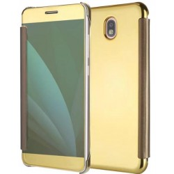 Gold Ice View Cover For Samsung Galaxy J5 (2017)