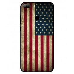Coque Vintage America Pour Huawei Honor 9 Lite