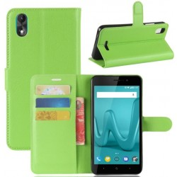 Wiko Lenny 4 Plus Green Wallet Case
