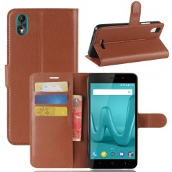 Wiko Lenny 4 Plus Brown Wallet Case