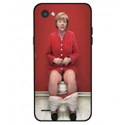 LG Q6 Angela Merkel On The Toilet Cover