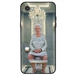 LG Q6 Her Majesty Queen Elizabeth On The Toilet Cover