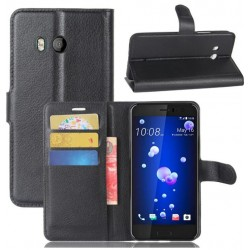 HTC U11 Black Wallet Case