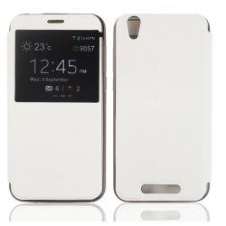 White S-view Flip Case For Cubot Manito