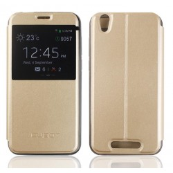 Gold S-view Flip Case For Cubot Manito