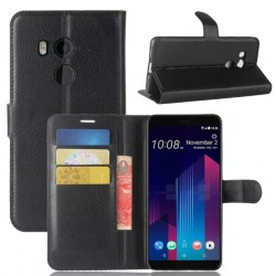 HTC U11 Plus Black Wallet Case
