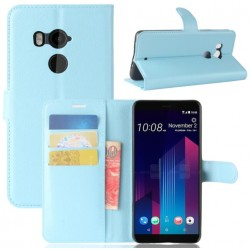 HTC U11 Plus Blue Wallet Case