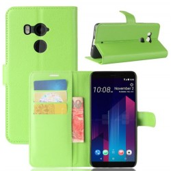 HTC U11 Plus Green Wallet Case