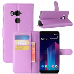 HTC U11 Plus Purple Wallet Case