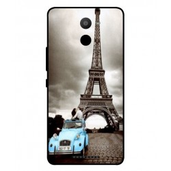 BQ Aquaris U Plus Vintage Eiffel Tower Case