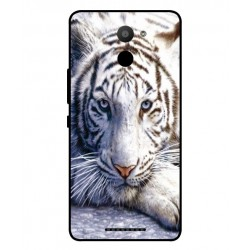 BQ Aquaris U Plus White Tiger Cover