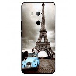 HTC U11 Eyes Vintage Eiffel Tower Case