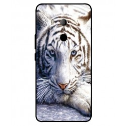 HTC U11 Eyes White Tiger Cover