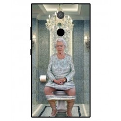 Sony Xperia L2 Her Majesty Queen Elizabeth On The Toilet Cover