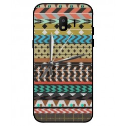 Samsung Galaxy J2 Pro 2018 Mexican Embroidery With Clock Cover