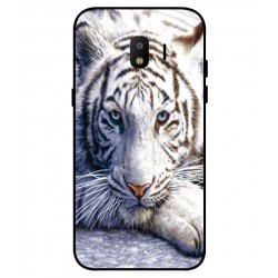 Coque Protection Tigre Blanc Pour Samsung Galaxy J2 Pro 2018