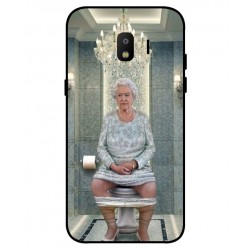 Samsung Galaxy J2 Pro 2018 Her Majesty Queen Elizabeth On The Toilet Cover