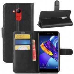 Protection Etui Portefeuille Cuir Noir Huawei Honor V9 Play