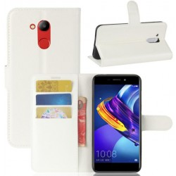 Protection Etui Portefeuille Cuir Blanc Huawei Honor V9 Play
