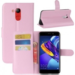 Protection Etui Portefeuille Cuir Rose Huawei Honor V9 Play