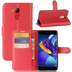 Protection Etui Portefeuille Cuir Rouge Huawei Honor V9 Play