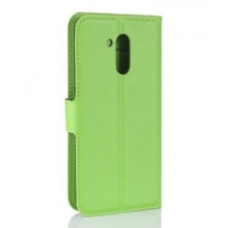 Protection Etui Portefeuille Cuir Vert Huawei Honor V9 Play