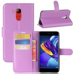 Protection Etui Portefeuille Cuir Violet Huawei Honor V9 Play