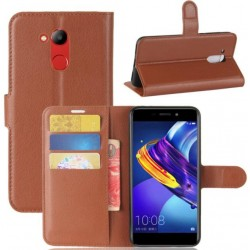 Protection Etui Portefeuille Cuir Marron Huawei Honor V9 Play