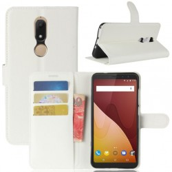 Protection Etui Portefeuille Cuir Blanc Wiko View Prime