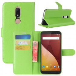Protection Etui Portefeuille Cuir Vert Wiko View Prime