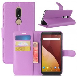 Protection Etui Portefeuille Cuir Violet Wiko View Prime
