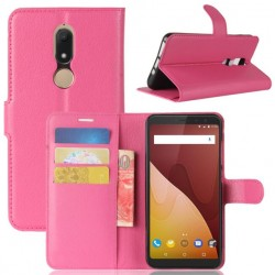 Protection Etui Portefeuille Cuir Rose Wiko View Prime
