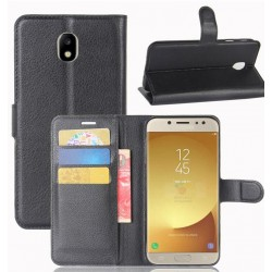 Samsung Galaxy J7 Pro Black Wallet Case