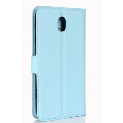 Samsung Galaxy J7 Pro Blue Wallet Case