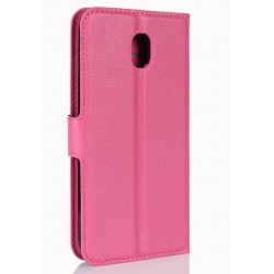 Protection Etui Portefeuille Cuir Rose Samsung Galaxy J7 Pro