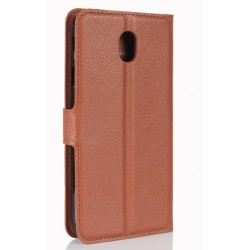 Samsung Galaxy J7 Pro Brown Wallet Case