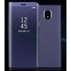 Purple Ice View Cover For Samsung Galaxy J7 Pro