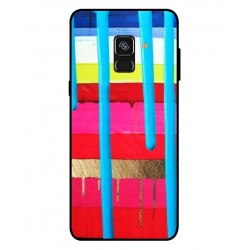 Samsung Galaxy A8 2018 Brushstrokes Cover