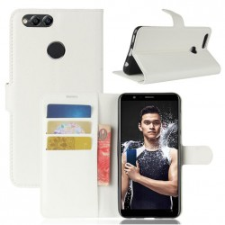 Protection Etui Portefeuille Cuir Blanc Huawei P Smart