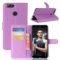 Protection Etui Portefeuille Cuir Violet Huawei P Smart