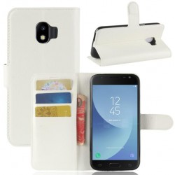 Protection Etui Portefeuille Cuir Blanc Samsung Galaxy J2 Pro 2018