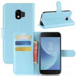 Protection Etui Portefeuille Cuir Bleu Samsung Galaxy J2 Pro 2018