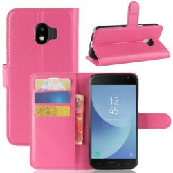 Protection Etui Portefeuille Cuir Rose Samsung Galaxy J2 Pro 2018