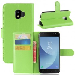 Protection Etui Portefeuille Cuir Vert Samsung Galaxy J2 Pro 2018