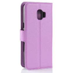 Protection Etui Portefeuille Cuir Violet Samsung Galaxy J2 Pro 2018